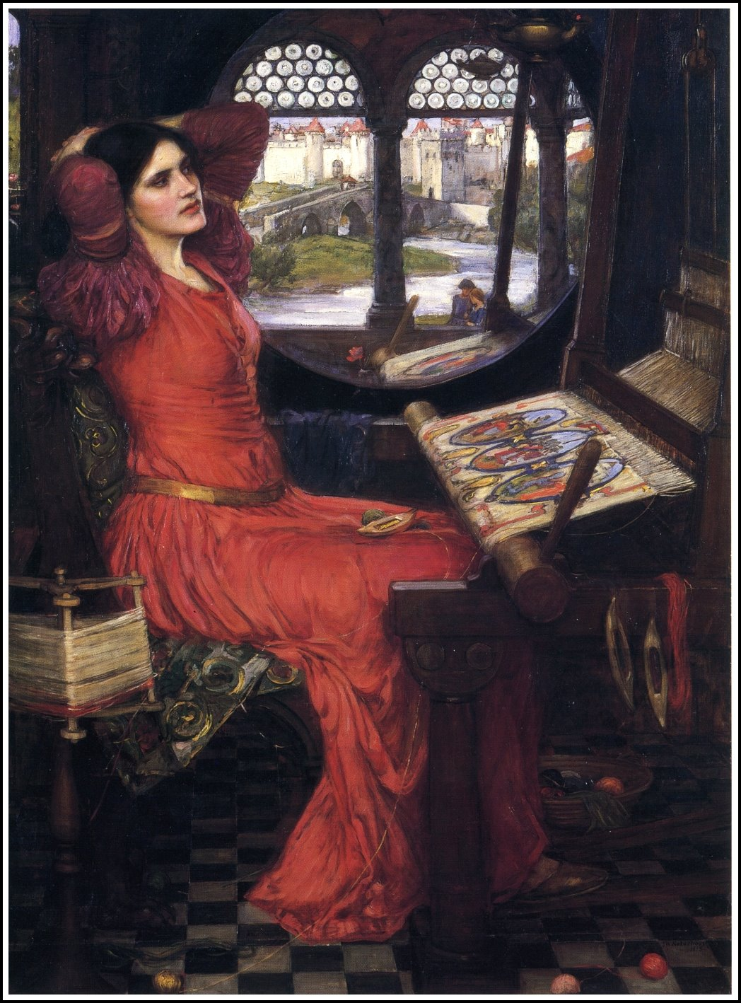 the lady of shallot essay The lady of shalott essays often in paintings and poems the audience does not immediately perceive the many underlying meanings and tones created by the artist in.