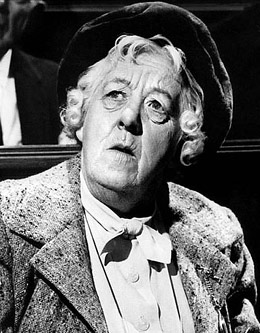 Маргарет Резерфорд (Margaret Rutherford) в роли мисс Марпл.