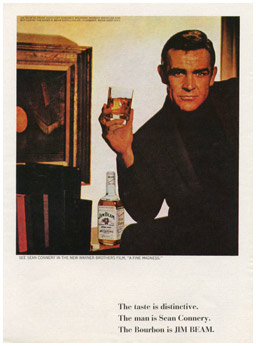 Sean Connery. Jim Beam.
