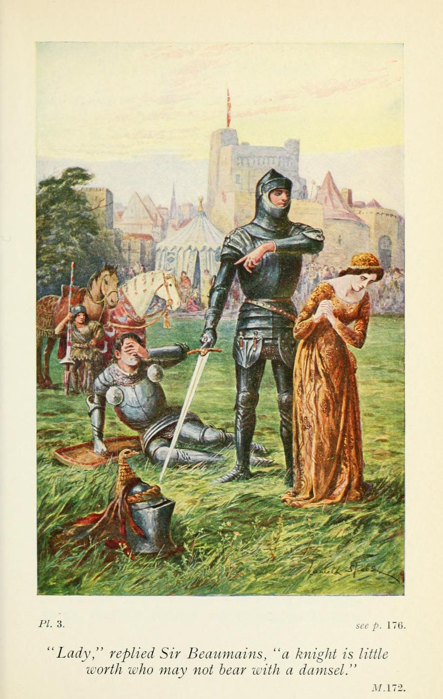 the battle between sir launcelot and sir gawain Free term papers & essays - heroism in sir gawain and the green knight and beowulf, s.