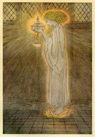 «Святой Грааль», Артур Рэкхем (Arthur Rackham).