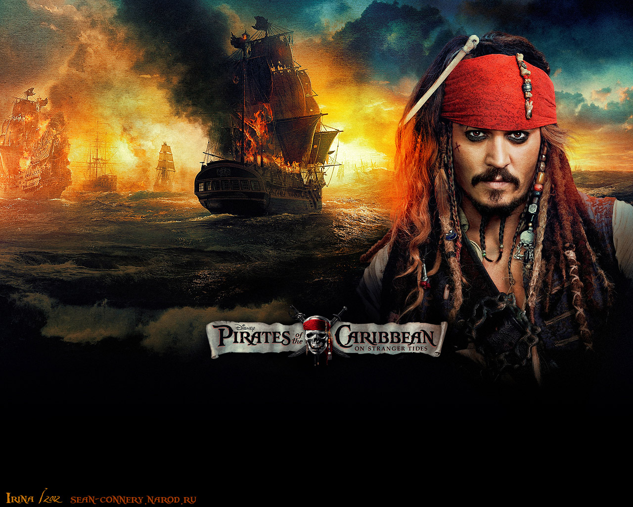 Пираты Карибского моря. На странных берегах (Pirates of the Caribbean. On Stranger Tides). Джонни Депп (Johnny Depp)  Wallpaper