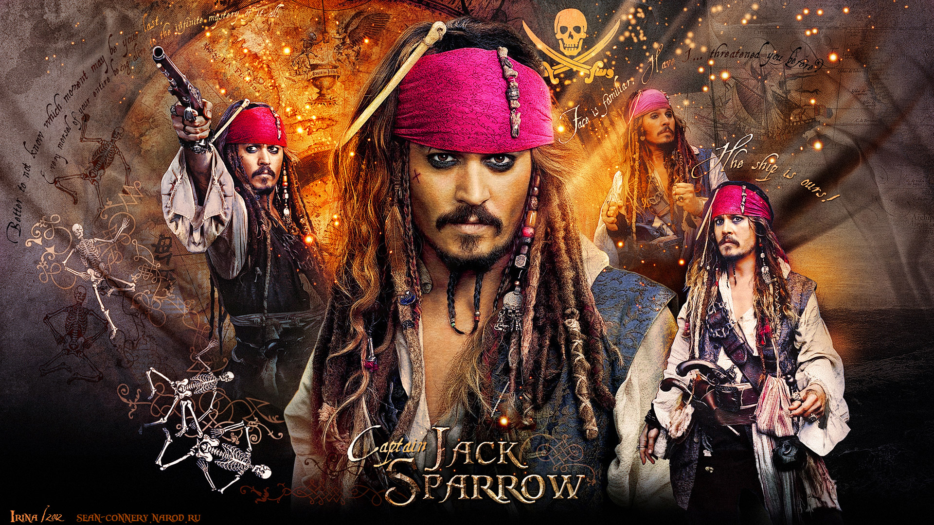 Johnny Depp Wallpaper, Pirates of the Caribbean. On Stranger Tides ...