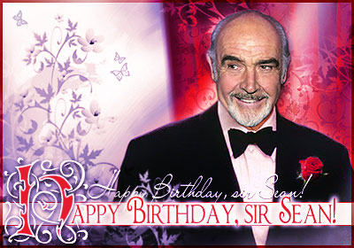 Happy Birthday, sir Sean Connery!